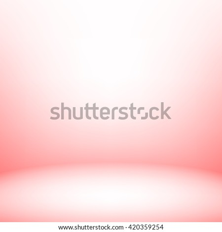 Light room with rounded wall. Vector illustration. Used mesh objects - stock vector