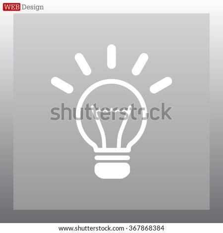 light sign ideas (lightbulb), web icon. vector design - stock vector