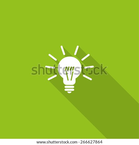 light sign ideas, web icon. vector design - stock vector