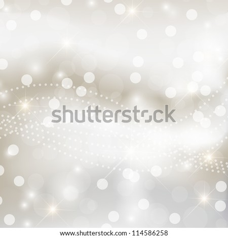Light silver abstract Christmas background - stock vector