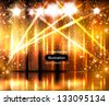 light stage background - stock photo