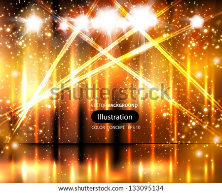 light stage background - stock vector