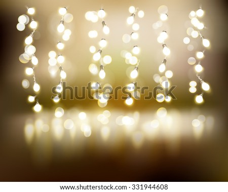 Light strings. Vector illustration. - stock vector