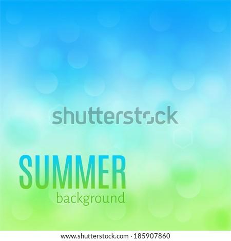 Light summer background - stock vector