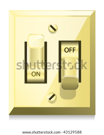 Light Switch - Vector Illustration