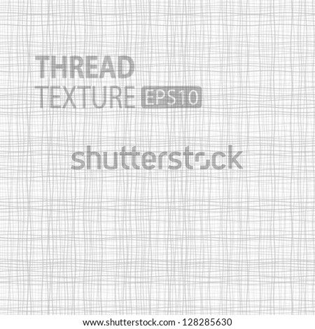 Light Thread fabric texture, vector illustration - stock vector