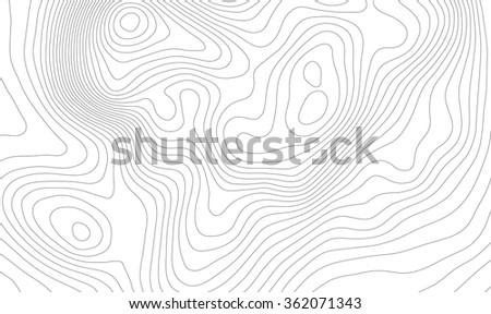 Light topographic topo contour map background, vector illustration