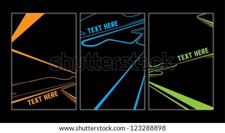 light trail background - stock vector