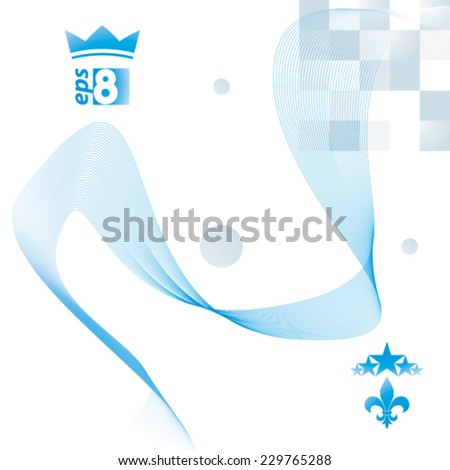 Light vector soft composition, 3d wavy decorative ribbon. Abstract sophisticated background with graphic web elements. - stock vector