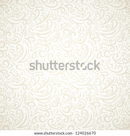 Light vintage seamless pattern with gradient - stock vector