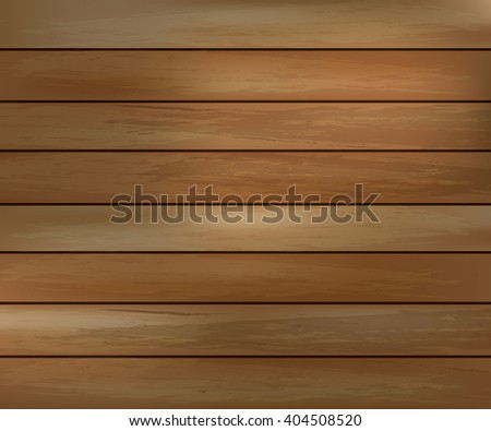Light wood texture with horizontal boards floor, table, wall surface, dark - stock vector