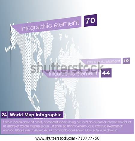 Light world map infographic template modern stock vector 719797750 light world map infographic template with modern flat paper pointer marks vertical on the wall gumiabroncs Images