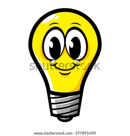 Lightbulb cartoon vector - stock vector