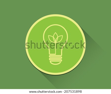 Lightbulb icon, green concept.