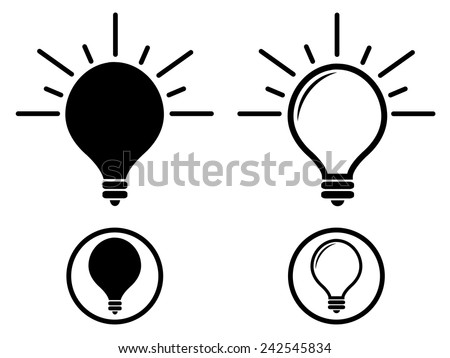 Lightbulb Silhouette - stock vector