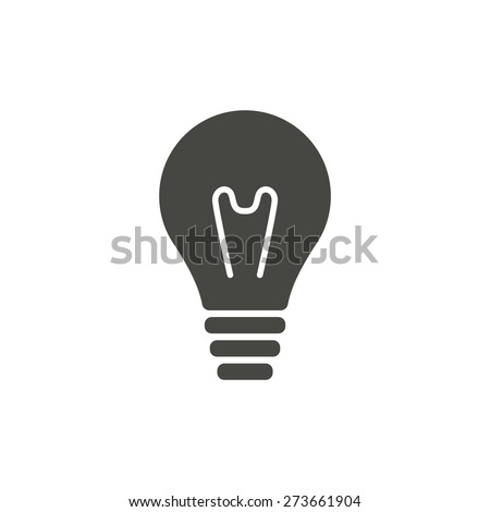 Lightbulb - vector icon in black on a white background. - stock vector