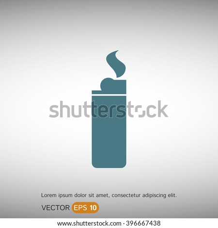 Lighter. EPS 10 Flat Icon. Vector Illustration.