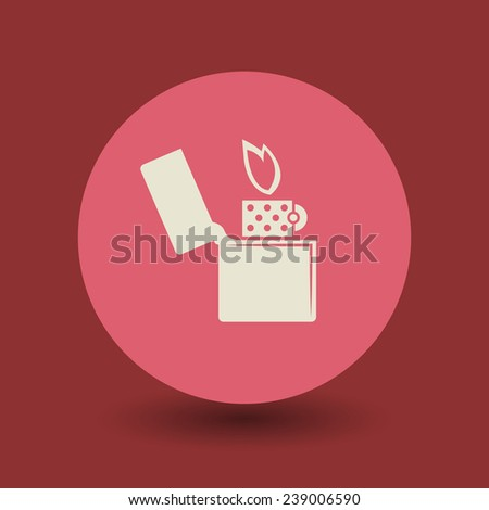 Lighter icon or sign, vector illustration - stock vector