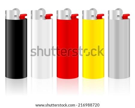 Lighter on a white background. - stock vector