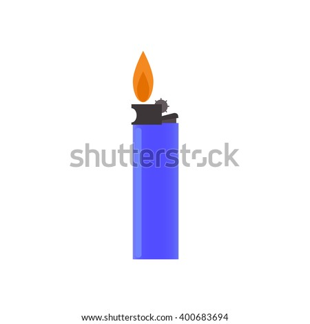 Lighter on a white background. Vector illustration .