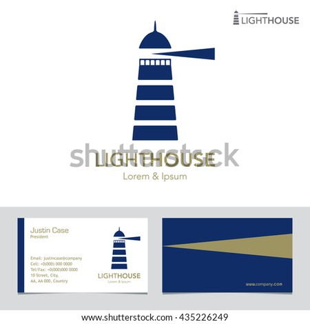 Lighthouse Business Sign Business Card Vector Stock Vector 435226249 ...
