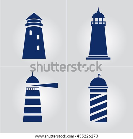 Lighthouse business sign template set lighthouse stock vector lighthouse business sign template set lighthouse icon set nautical banner corporate identity template maxwellsz