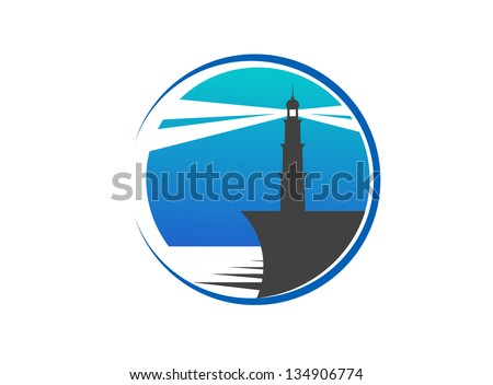 Lighthouse emblem. Jpeg version also available in gallery - stock vector