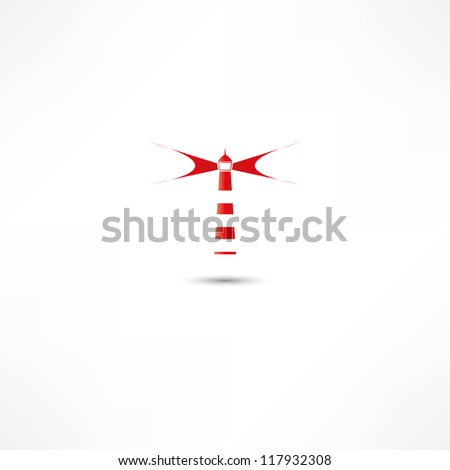 Lighthouse icon - stock vector