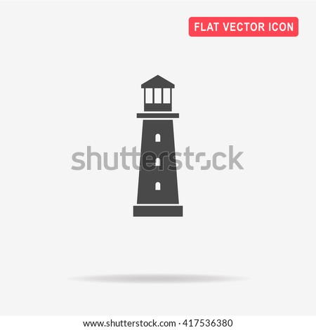 Lighthouse icon. Vector concept illustration for design. - stock vector