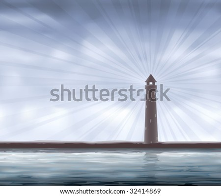 Lighthouse on the seashore (other landscapes are in my gallery)