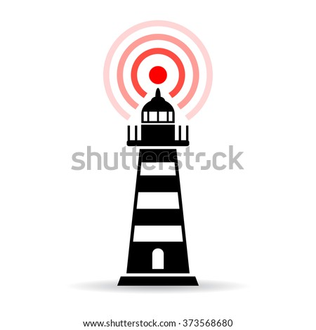 Lighthouse pictogram vector illustration isolated on white background - stock vector