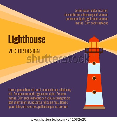 Lighthouse vector - stock vector