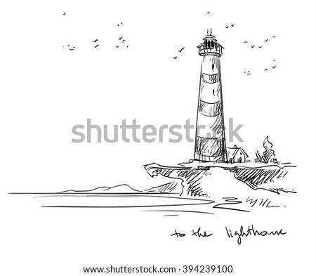 lighthouse. Vector sketch.  - stock vector