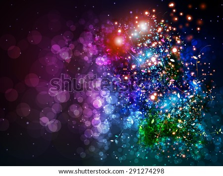 Lighting effect color background easy editable - stock vector