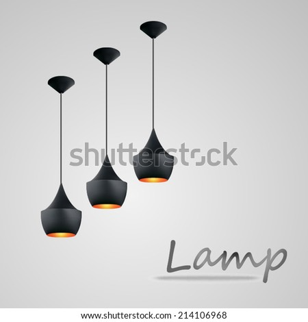 lighting of lamps, vector Illustration