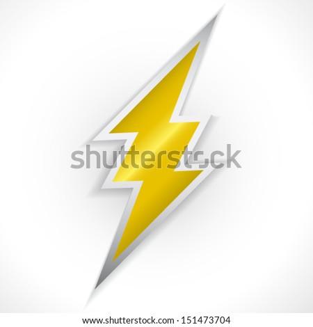 Lighting thunder sign - stock vector