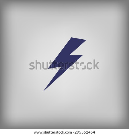 lightning and electricity icon  - stock vector