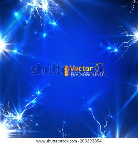 Lightning background.  - stock vector