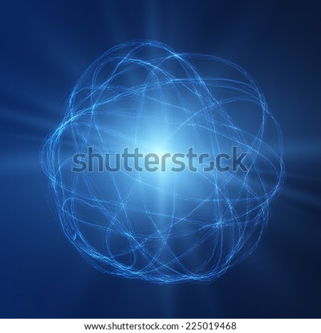 Lightning ball vector background. Vector eps10. - stock vector