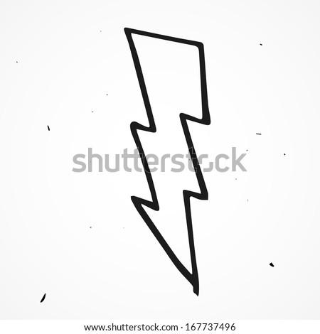 Lightning bolt hand drawn  sc 1 st  Shutterstock & Lightning Bolt Hand Drawn Stock Vector 167737496 - Shutterstock azcodes.com