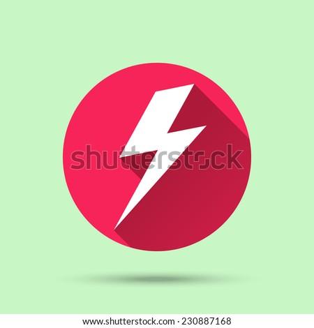 Lightning bolt icon. Vector illustration - stock vector