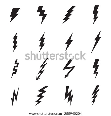 Lightning bolt icon. Vector illustration - stock vector