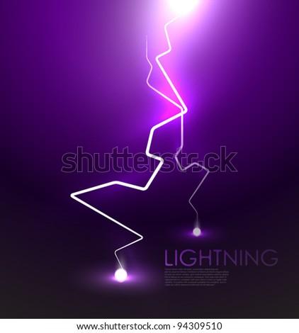 Lightning bolt vector abstract background - stock vector