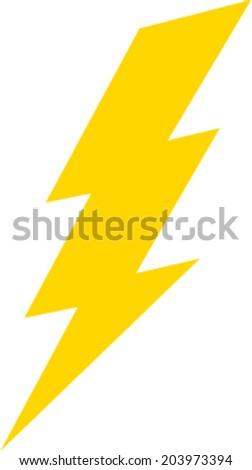 Lightning bolt vector icon - stock vector
