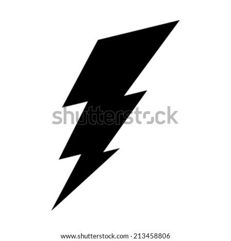 lightning bolt vector icon stock vector 213458806 shutterstock rh shutterstock com lightning bolt vector free lightning bolt vector image