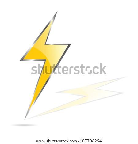lightning bolt vector illustration - stock vector