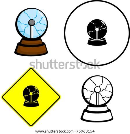 Lightning Electric Ball Illustration Sign And Symbol