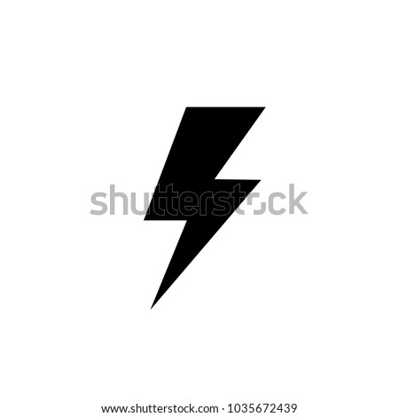 Lightning Electric Power Vector Logo Design Stock Photo Photo