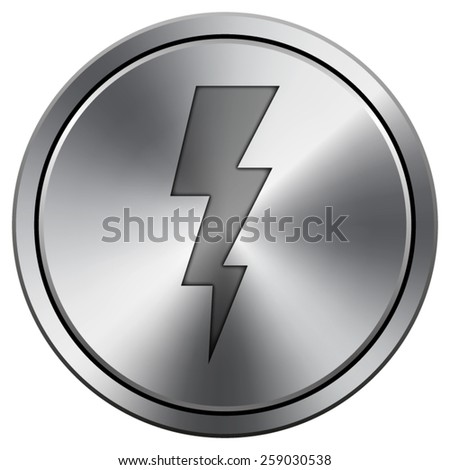 Lightning icon. Internet button on white background. EPS10 Vector.  - stock vector