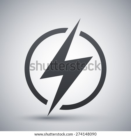 Lightning icon, vector - stock vector